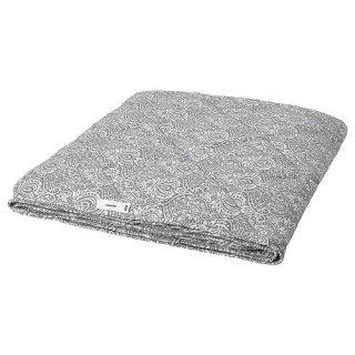 IKEA イケア 掛け布団 薄手 ダブル ダークグレー ホワイト 200x200cm m60489926 LAGBJORK