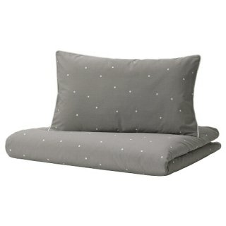 IKEA イケア 掛け布団カバー 枕カバー ベビーベッド用 水玉模様 110x125 35x55cm m40488937 LENAST
