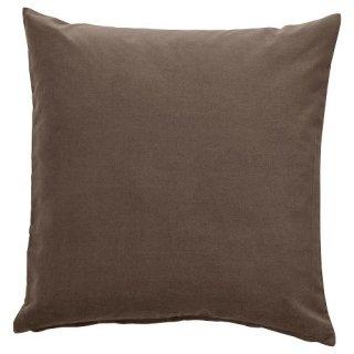 IKEA イケア クッションカバー グレー ブラウン 50x50cm m10490197 SANELA 【カバーのみ】