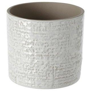 IKEA イケア 鉢カバー 室内 屋外用 ホワイト12cm m50475779 CHIAFRON