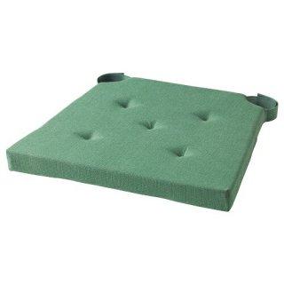 IKEA イケア チェアパッド グリーン 42/35x40x4cm m00304426 JUSTINA