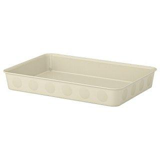 IKEA イケア オーガナイザー プラスチック ベージュ 25x35x5cm m20477039 NOJIG