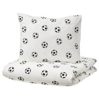 IKEA イケア 掛け布団カバー&枕カバー サッカーボール模様 シングル 150x200cm m10491328 SPORTSLIG