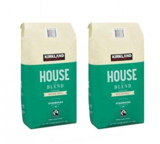 Kirklandカークランドシグネチャー スターバックス ハウスブレンド コーヒー (豆) 1.13kg 2袋セット cos6979000x2