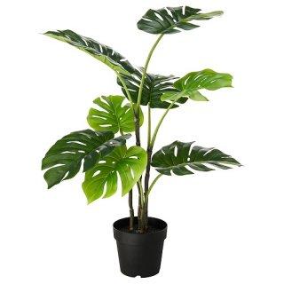 IKEA イケア 人工観葉植物 室内 屋外用 モンステラ 19x90cm m40395293 FEJKA
