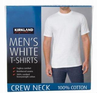 Kirklandカークランドシグネチャー メンズTシャツ 6枚組 ホワイト cos20230-1