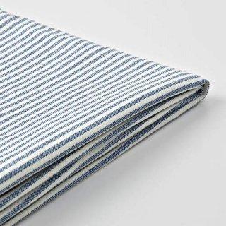 IKEA イケア チェアカバー ロッメレ ダークブルー ホワイト m10486223 BERGMUND【カバーのみ】