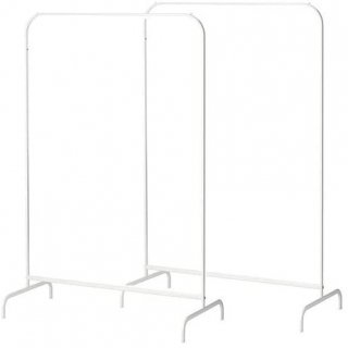 セット商品 IKEA イケア MULIG 洋服ラック 2個セット ホワイト 白 a80179433x2