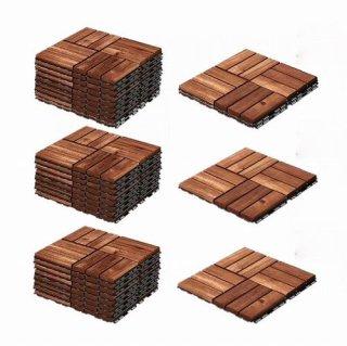 セット商品 IKEA イケア RUNNEN フロアデッキ 屋外用 / 27ピース ブラウンステイン a30234229x3