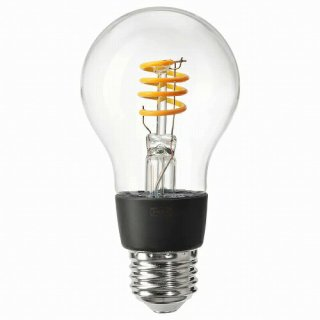 IKEA イケア LED電球 E26 250ルーメン ワイヤレス調光 電球色 温白色 球形 クリア m10439260 TRADFRI