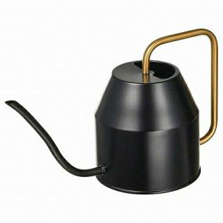 IKEA イケア じょうろ ブラック ゴールドカラー 0.9L m00497439 VATTENKRASSE