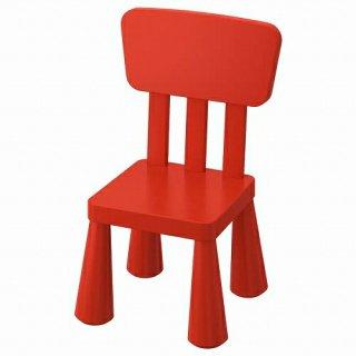 IKEA イケア 子ども用チェア 室内 屋外用 レッド m20365367 MAMMUT
