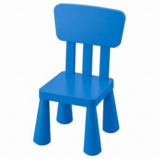 IKEA イケア 子ども用チェア 室内 屋外用 ブルー m00365349 MAMMUT