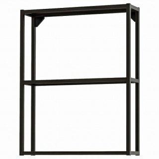 IKEA イケア ウォールフレーム 棚板付き チャコール 60x15x75cm m60481614 ENHET