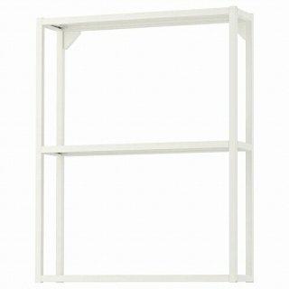 IKEA イケア ウォールフレーム 棚板付き ホワイト 60x15x75cm m80481613 ENHET