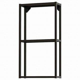 IKEA イケア ウォールフレーム 棚板付き チャコール 40x15x75cm m40481605 ENHET