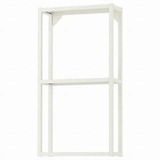 IKEA イケア ウォールフレーム 棚板付き ホワイト 40x15x75cm m80481613 ENHET