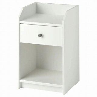 IKEA イケア ベッドサイドテーブル ホワイト 40x36cm m80488964 HAUGA