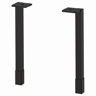 IKEA イケア 脚 キャビネット用 チャコール 23.5cm 2ピース m60481633 ENHET
