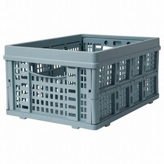 IKEA イケア 折りたたみボックス ブルー 48x35x24cm m00503336 KAOSIG