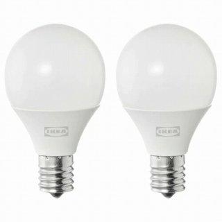 IKEA イケア LED電球 E17 250ルーメン 球形 オパールホワイト 2ピース m70498727 SOLHETTA