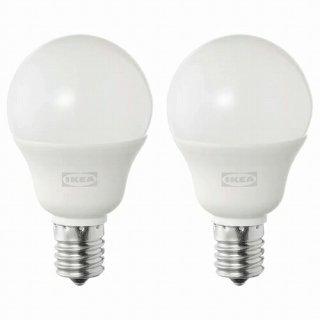 IKEA イケア LED電球 E17 440ルーメン 球形 オパールホワイト 2ピース m70498713 SOLHETTA