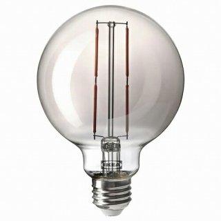 IKEA イケア LED電球 E26 120ルーメン 球形 グレークリアガラス 95mm m90513576 MOLNART