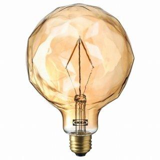 IKEA イケア LED電球 E26 120ルーメン 球形 ファセットグラス ブラウンクリアガラス 125mm m90513468 MOLNART