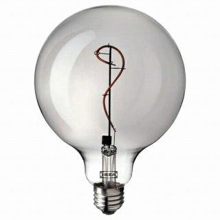IKEA イケア LED電球 E26 140ルーメン 球形 グレークリアガラス 125mm m80513478 MOLNART