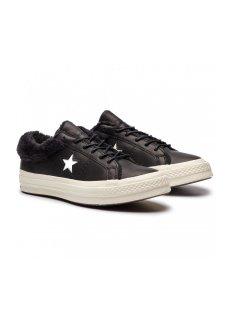 CONVERSE ONE STAR -ブラック×ファー-