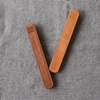 木製箸箱&箸セット 2種TANBANANBA 木のしごと 難波行秀