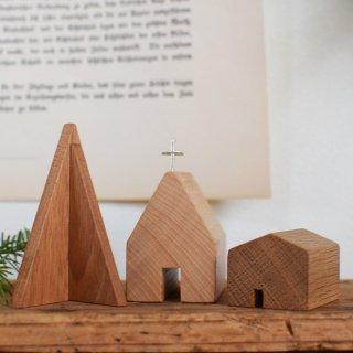 木製 小さなツリーセット|IKARI木工舎 クリスマス雑貨 クリスマスツリー