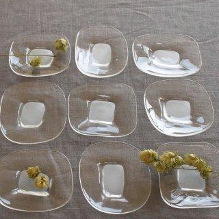 【塩谷由佳乃】 ガラス工芸 shiotani 角小皿 スクエアミニプレート