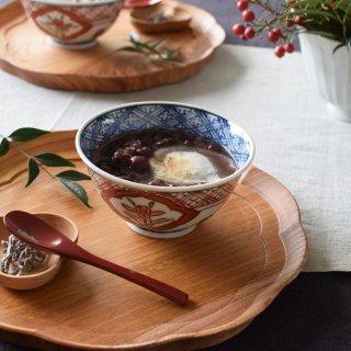 萌窯 赤絵 飯碗