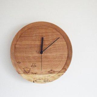 RetRe リツリ 虫食いの時計 丸 木製 個性豊かな表情