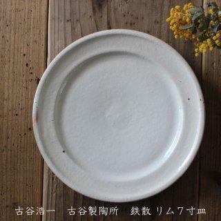 古谷製陶所 古谷浩一 鉄散 リム7寸皿【信楽焼】