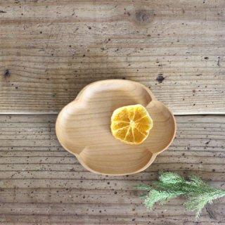 【メール便対応】四十沢木材工芸 KITO 小皿 木瓜 小 ガラス仕上げ