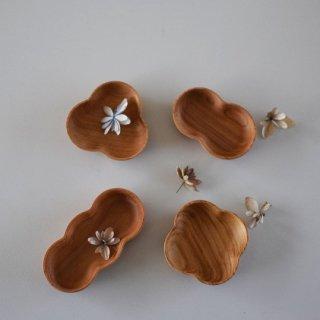 【メール便対応】 豆皿4種 四十沢木材工芸 ガラス仕上げ