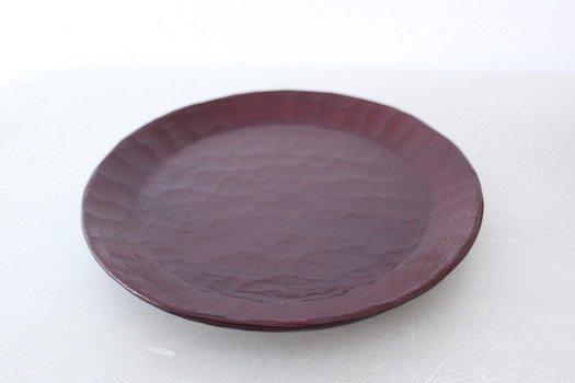 栗輪花皿/赤