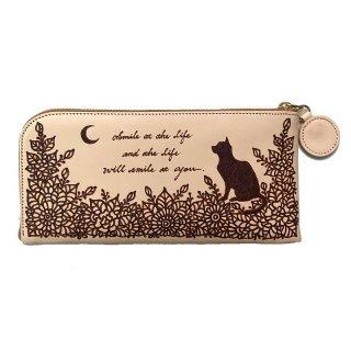 ◆長財布 スリム型 猫