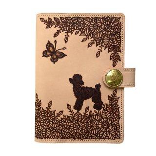 ◆手帳カバーA6サイズ(文庫本サイズ)  トイプードル