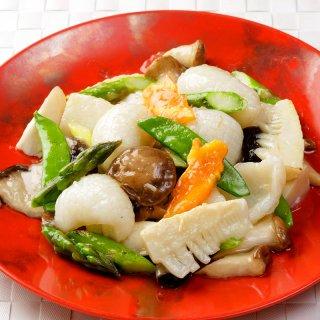 紋甲イカと新鮮野菜の炒め