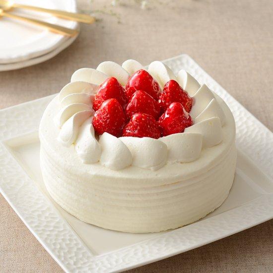 いちごのホールケーキ(生クリームorチョコレート)
