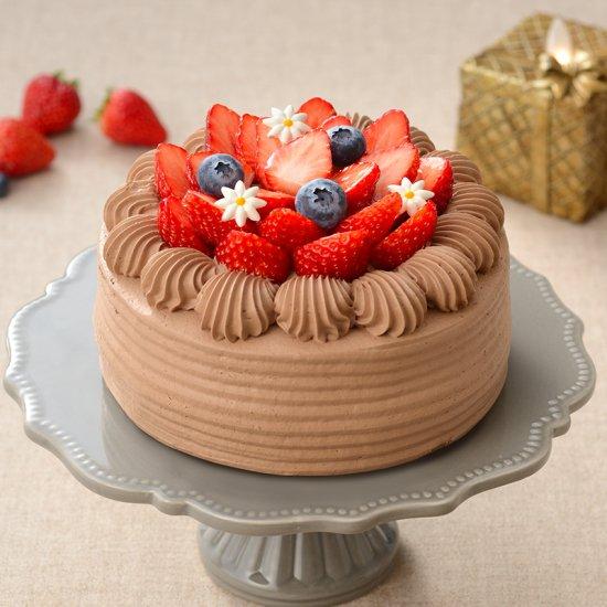 いちごのデコレーションホールケーキ(チョコレートor生クリーム)