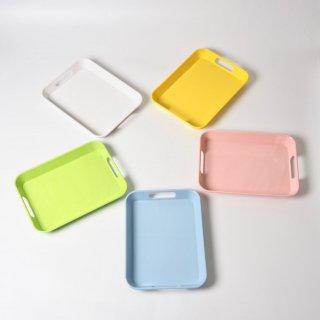 モンテッソーリのメラミントレー《白/青/ピンク/黄色/緑》