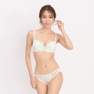 花柄レースブラセット 【ホワイト】TK301