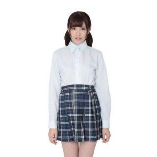 本気で盛れる長袖シャツ ブルー【Mサイズ】