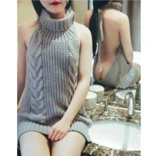 童貞セーター【サイズ:F】【カラー:グレー】