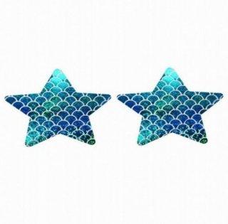 【ニップルシール】星型【マルチカラー鱗】