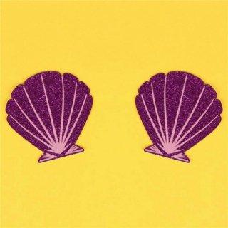 【ニップルシール】貝殻【パープル】